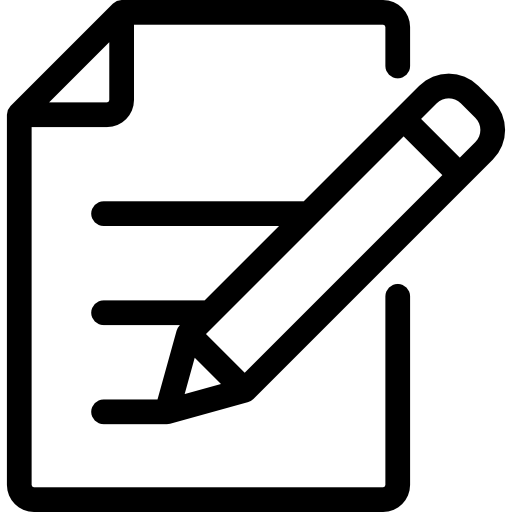 paper and pencil writing form icon